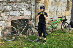 Collecting Mud (Gee & Kay Webb) Tags: mtb mountainbike bike bicycle cycling outdoors riding tuscany italy
