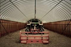 Tractor in the greenhouse (Sat Sue) Tags: gx7mk2 gx80 gx85 japan fukuoka farm