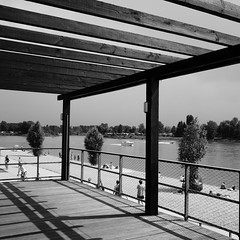 Mannheim Beach! (m_laRs_k) Tags: mannheim beach strandbad germany bw noir monochrome olympus omd street travel leisure 7dwf prime 17mm m43 boat ship watersports fun summer