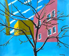 Spring Tree (michaeltrinseyart) Tags: fineart painting acrylicpainting realistic contempoary tree building spring buds