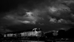 Down By The Tracks (Tim @ Photovisions) Tags: train bnsf tracks railroad locomotive diesel nebraska beatice