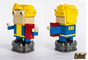Vault Tech limited edition Lego brickz head (Commander626) Tags: lego brickzhead fallout new vagas vault 21 mojave wasteland