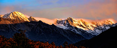 Aoraki (Miradortigre) Tags: aoraki newzealand mountain sunset snow mtcook cook montaña landscape nature golden