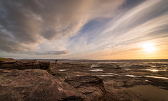 Sunset Mark 2 (Rob Pitt) Tags: red rocks west kirby wirral sunset photographer clouds a7rii sony samyang 14mm f28 landscape sandstone beach