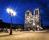 Blue Hour over Notre Dame (Seb_f_s) Tags: 20mm nikkor nikon d750 wanderer capital europe trip travel architecture star lamppost gothic cathedral longexposure night city cité notredame blue bluehour france paris