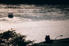Belgrade Romances (freyavev) Tags: danube sava confluence monochrome sunset river water couple silhouette sillhouettes kalemegdan belgrade beograd serbia srbija telelens vsco canon canon700d people