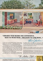 Ceramic Tile 1956 (barbiescanner) Tags: vintage retro fashion 50s 50sdesign design midcenturymodern midcentury 1950s 1950sdesign 1956 vintageads 50sads 1950sads ceramictile