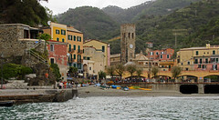 arriving in Monterosso (scott1346) Tags: town cinqueterra terraces villages railroad connection 1001nights 1001nightsmagiccity canont3i 1001nightsmagicwindow autofocus