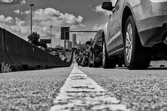 22:52-1 White Line Fever (Woodlands Photog) Tags: houston texas freeway traffic bw monochrome