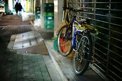 1930/1740 (june1777) Tags: snap street seoul night light bokeh bicycle sony a7ii nikon nikkor 50mm f12 ai 10000 clear