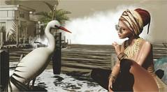 Golden (tarja.haven) Tags: nomatch addams meva cosmopolitan hair meshhair hairbandana haltertop jewellery meshjewellery bentorings bracelet pose bauhausmovement event photography photo pixelart tarjahaven sl secondlife fashion virtual