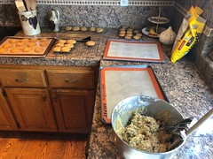 Double Batch of Chocolate Chip Cookies (Jill Clardy) Tags: bowl mixer sheets cookies chip chocolate baking bake kitchen cook cooking sweets 365the2018edition 3652018 day152365 01jun18
