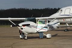 N32PL (IndiaEcho Photography) Tags: n32pl vessna 182 egkb bqh london biggin hill airport airfield bromley civil aircraft aeroplane aviation kent canon eos 1000d