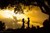 Country Sunset (Brian Knott Photography) Tags: wedding bride groom couple cowboy country dusk dawn sunset sunrise clouds cloudy jamul losangeles oc orangecounty sandiego steelecanyon steelecanyongolfclub california weddingphotography silhouette sunrays godrays dramatic framing composition holdinghands cowboyhat southerncalifornia countrywedding countrytheme