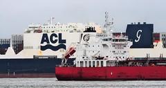 Ships of the Mersey - Hafnia Sunda & ACL Atlantic Sail (sab89) Tags: river mersey ship shipping irish sea liverpol