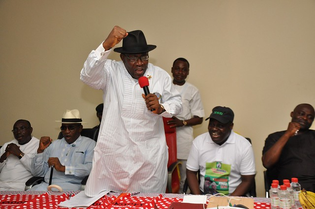 HSDickson-Meeting with PDP leaders on Election matters. 25th Oct. 2015