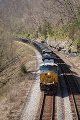 CSX coal along Levisa Fork (charles buccola) Tags: csxky csx rr coaltrain train