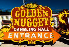 Golden Nugget (tubblesnap) Tags: las vegas neon museum graveyard sign tubblesnap fuji fujifilm xs1 decayed decay vintage golden nugget tourist attraction