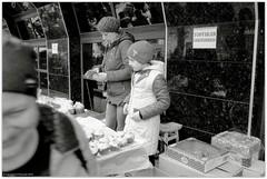 The bustling trade of Easter cakes (pasks) (Ігор Кириловський) Tags: 135 35mm kyrylovsky kirilovskiigor chernivtsi ukraine slr minoltadynax404si minolta maxxum af28mmf28 film kodak100tmax hoyauv0 markstudiolab trade easter