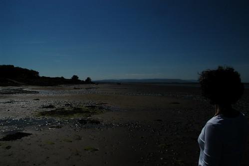 J on the beach