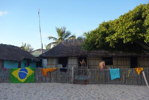 Voici l'auberge où nous avons dormi le deuxième jour de marche pour partir de l'oasis Queimada dos Britos.