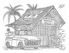 Route 66 Voodoo (rod1691) Tags: myart art sketchbook bw scfi grey concept custom car retro space hotrod drawing pencil h2 hb original story fantasy funny tale automotive illustration greyscale moonpies sketch sexy