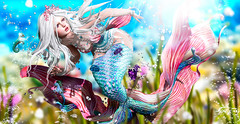 Ocean child (meriluu17) Tags: mermaid mermaids merfolk tail fish merponies jellyfish undersea aqua cute fantasy surreal doll dolly child baby princess