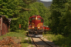 Back to Normal (ryanfothergill) Tags: whitemountains depot newhampshire nh glen tourist 573 gp7 mainecentral csrx road rail train conwayscenic