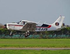 G-CJJS Piper PA-28 Warrior (SteveDHall) Tags: aircraft airport aviation airfield aerodrome aeroplane airplane blackpool blackpoolairport egnh blk bpl 2018 lightaircraft generalaviation ga gcjjs piper pa28 warrior piperpa28warrior piperpa28 pa28warrior