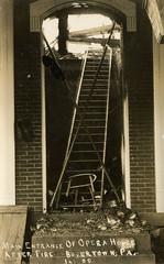 Rhoads Opera House Fire - Boyertown, Pennsylvania (The Cardboard America Archives) Tags: cityinruins rppc fire pennsylvania postcard disaster