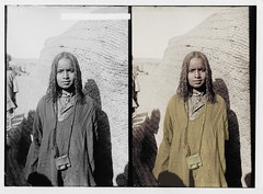 Stepping out of time Bisharin girl (rob.vndnB) Tags: library congress colorization colorized photo department photogragh photographs picture public old rvndnb archives border looking light nitrate negatives image print year 19001920 american colony jerusalem