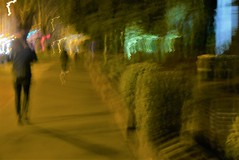 St Kilda Road #143a (SJ Finn) Tags: sjfinn street shadow foot traffic flickr colour intentional camera movement motion melbourne night time blur