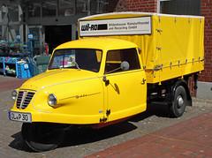 Goli (Schwanzus_Longus) Tags: nordenham german germany old classic vintage car vehicle truck lorry freight cargo transport flatbed trike goliath goli