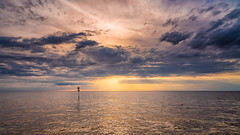 Wash sunset (jmbillings) Tags: 4 cloud dramatic hunstanton light norfolk northnorfolk number pole reflection sea sky summer sunset waves