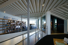 A space on 2nd floor, Art Museum & Library, Ota (太田市美術館・図書館) (christinayan01 (busy)) Tags: architecture building perspective library museum gumma ota japan indoor interior white door