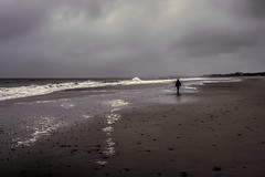 With or without you (WilliamND4) Tags: hss sliderssunday dreary beach alone sad cloudy day coast