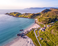 Beautiful beach in Måløy, Norway (Paulius Bruzdeilynas) Tags: norway norge måløy beach ocean sea mountain road trip travel dji djimavic mavicpro