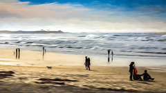 6520TS Impressions of Asilomar (2) (foxxyg2) Tags: beach water sand sky leasure art impressions impressionistic topaz topazsoftware topazstudio asilomar asilomarbeach monterey montereypeninsula pacificgrove california