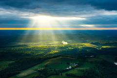 Shine Down (jeanineleech) Tags: piperarcher aerial aerialview aircraft airplane flight fly flying sky soar pennsylvania usa sunlight sunstreaks godbeams godrays hills ohio altitude overhead