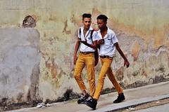 Habana Vieja - écoliers (luco*) Tags: cuba la havane habana havana vieja young boys students garçons jeunes élèves pupils étudiants boy jeune garçon adolescent teenager uniform school uniforme écolier jaune yeloow amarillo blanche chemse white shirt mur wall rue street walking portrait