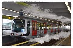 Steammetro (SoS) (myphotomailbox) Tags: rotterdam netherlands metro smoke railway train comicscene smileonsatherday steam ret reflection