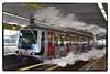 Steammetro (SoS) (myphotomailbox) Tags: rotterdam netherlands metro smoke railway train comicscene smileonsatherday steam ret reflection fantasy photoshop