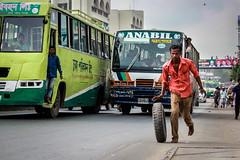 হউক ঢাকা পরিবহন, হউক আনাবিল সুপার সবার উরধে হিউম্যান পাওয়ার... (A t i k R a h m a n) Tags: street photography bangladesh trafficmovement awareness