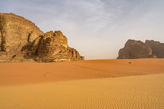 Wadi Rum mixing of sand (chrisbrown9714) Tags: sand wadi rum jordan bedouin martian desert