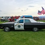 decommissioned 1969 Plymouth Fury 1 American Police car thumbnail