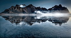 frozen (shutterbug_uk2012) Tags: iceland vbestrahorn frozen winter ice sea cold mist ehir 1407 seascape photography sunrise mountain water reflections stokkness peninsula east nikon d850 grads nd colour 3