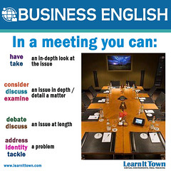 LIT BE In a meeting (Learn It Town) Tags: learn it town business english flashcards