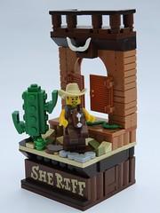 Cowboy Costume Guy - Series 18 Vignette (justin_m_winn) Tags: lego series 18 minifigure cowboy costume guy moc