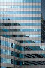 Building in blue mirror (chinnakitruenma) Tags: reflect buildings blue architecture cityscape balcony first avenue sidewalk greenwich village industrial door street gaslamp quarter window