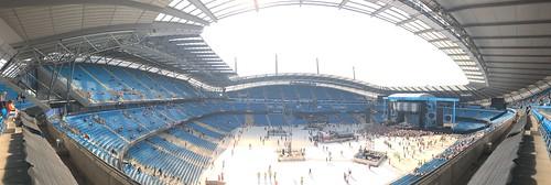 Ed Sheeran Concert at Manchester City's Etihad Arena Football Stadium Panoramic